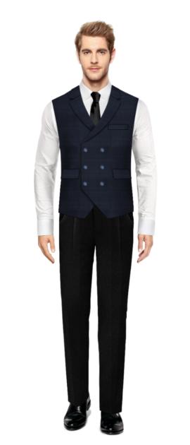 Brent Blue Vest