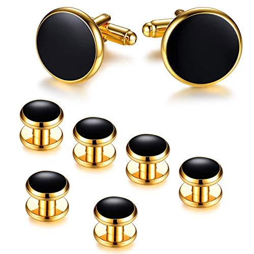 Gold & Black Cufflinks
