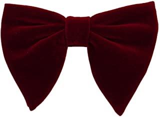 Burgundy Velvet Bow-Tie